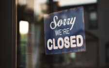 business closure sign