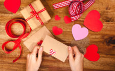 wrapping Valentine's Day presents